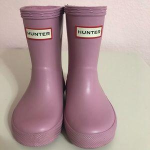 Toddler girl US size 6 Hunter rain boots